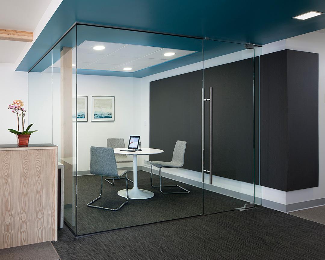 Dentist office consultation room